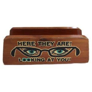 Accessories - Vintage wooden eyeglass holder
